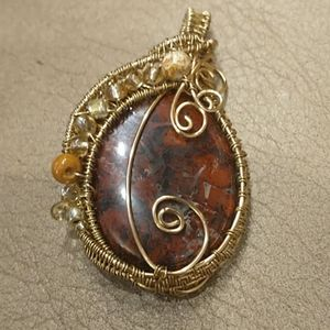 🇨🇦 Beautiful Hand Polished Stone Pendant